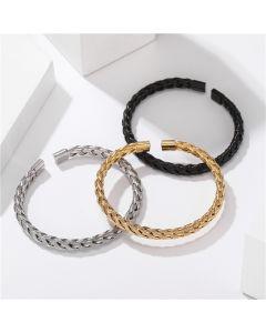 Braid Steel Wire Open Bracelet