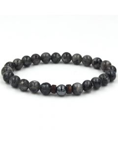 Black Herkimer Crystal Protection Bracelet
