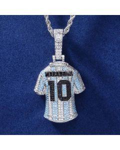 Iced Football Genius Jersey Pendant