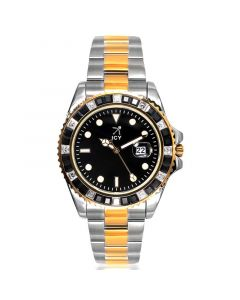 40mm Two-tone Iced Black Luminous  Dial Watch