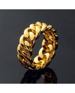 10mm Cuban Rings in Gold