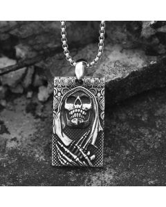 The Death Skeleton Punk Stainless Steel Pendant