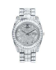 Baguette Cut Datejust Arabic Numerals Alloy Watch