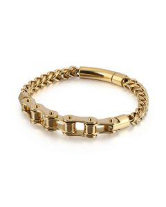 Bike Chain with Franco Steel Bracelet in Gold