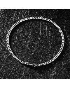 3mm Cuban Bracelet in White Gold