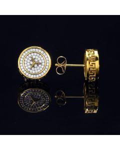 Three-Pointed Star Pave Diamonds Stud Earring