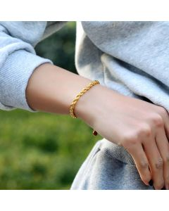 Women's 5mm Rope Bracelet in Gold