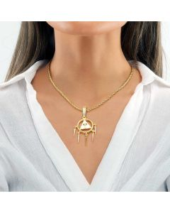 Women's Egyptian Pyramid Eye of Horus Pendant in Gold
