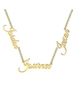 Personalized Three Nameplate Necklace
