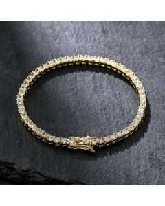 3mm Tennis 18K Gold Bracelet