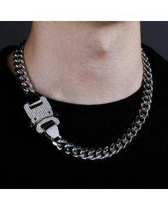 Iced Heavy Buckle 12mm Cuban Link Chain