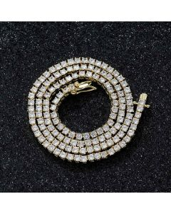 3mm Tennis 18K Gold Chain
