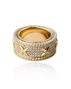 Men's North Star Stones Paved Band in Gold