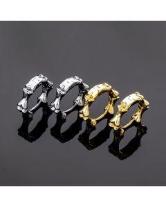 Bones Stainless Steel Hoop Earrings