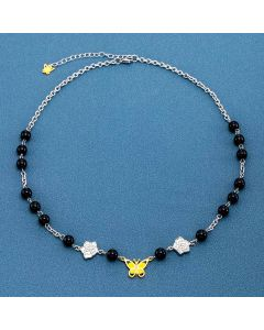 Black Pearl Butterfly Chain