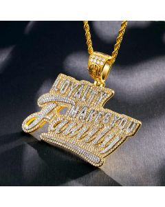 """Iced """"Loyalty Makes You Family"""" Pendant"""