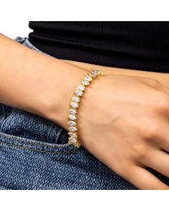 Women's Marquise Cut Bracelet in Gold