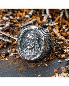 Jesus Cross Religious Stainless Steel Ring