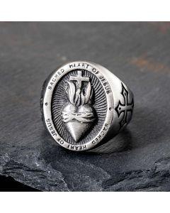 Sacred Heart of Jesus Stainless Steel Ring