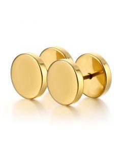 Round Stainless Steel Stud Earrings