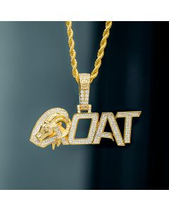 Iced GOAT Pendant in Gold