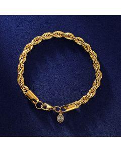 6mm Rope Bracelet in Gold