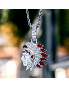 Native American Indian Chief Head Pendant