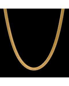 6mm Herribone Chain in Gold
