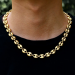 "7mm 22"" Stainless Steel Coffee Bean Chain in Gold"